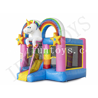 Inflatable Unicorn Bounce Combo / Jumping Castle with Slide / Inflatable Bouncy House for Kids