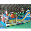 Outdoor kids inflatable Pirates theme bouncy castle with slide /inflatable playground/bouncer combo Obstacle for fun city