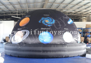 Full Printing Inflatable Planetarium Projector Dome / Mobile Inflatable Cinema Dome /Portable Planetarium Inflatable Dome Tent
