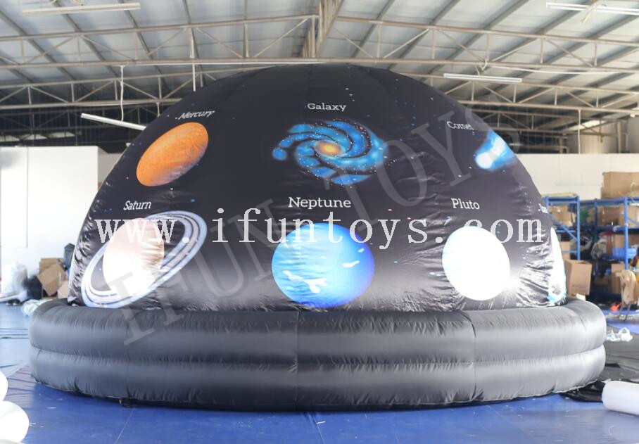 Portable Inflatable Planetarium Projection Dome Tent for School with Air Blower and PVC Floor Mat