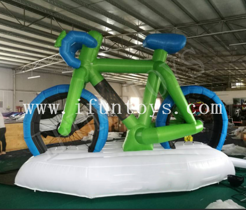 Giant Inflatable Bike Model / Advertising Inflatable Bicycle for Outdoor Promotion
