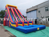 Double Lanes Inflatable Water Slide with Pool / Waterslide Inflatable with Pool for Kids