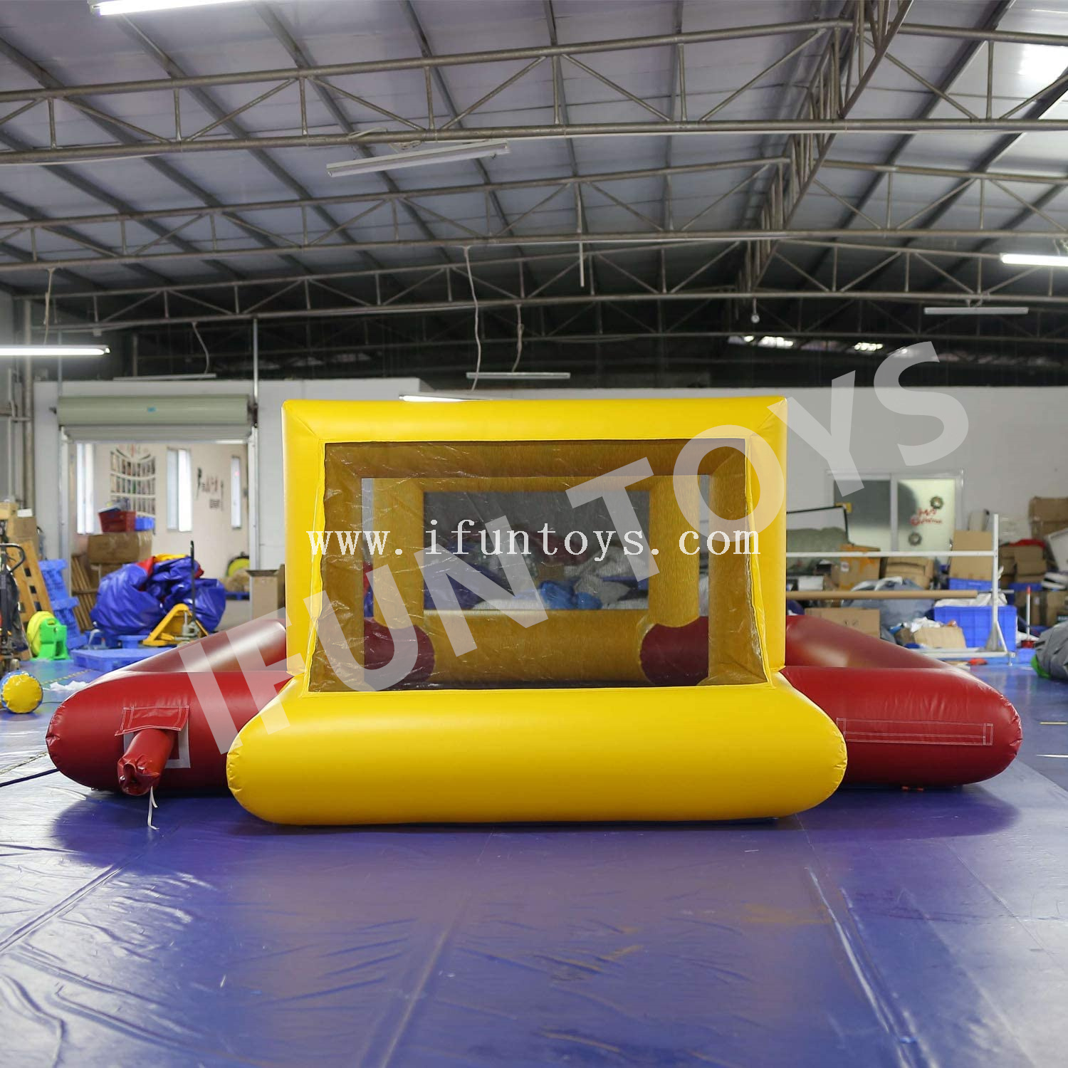 Outdoor Inflatable Football Field Goal Kick / Soocer Arena / Water Volleyball Field