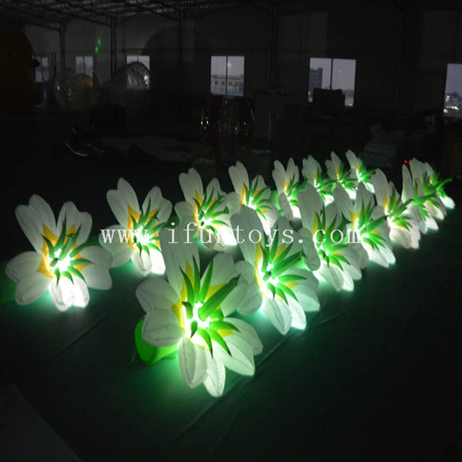 10m LED Inflatable Flower Chain for Party/ Event /Wedding Decoration