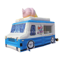 Portable Inflatable Ice Cream Truck / Inflatable Ice Cream Van Stall / Inflatable Track Shape Tent for Ice Cream Selling