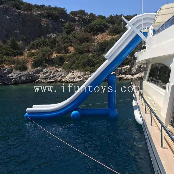 Free fall Inflatable boat dock slide/ superyacht water toys/ inflatable water slide for a horizon 88 foot E88 yacht