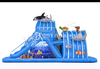 Seaworld Theme Inflatable Obstacle Course with Slide for Running Race
