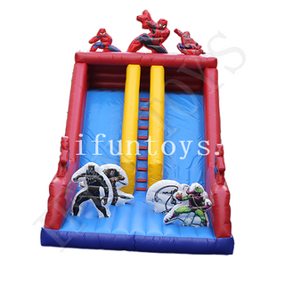 Superhero Inflatable Dry Slide / Spider Man Slide / Jumping Slide for Amusement Park