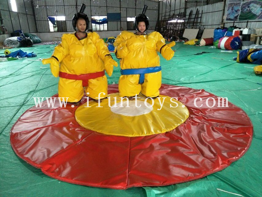 Funny inflatable sumo wrestling suits/inflatable foam padded sumo suits /inflatable fighting suits for sport game