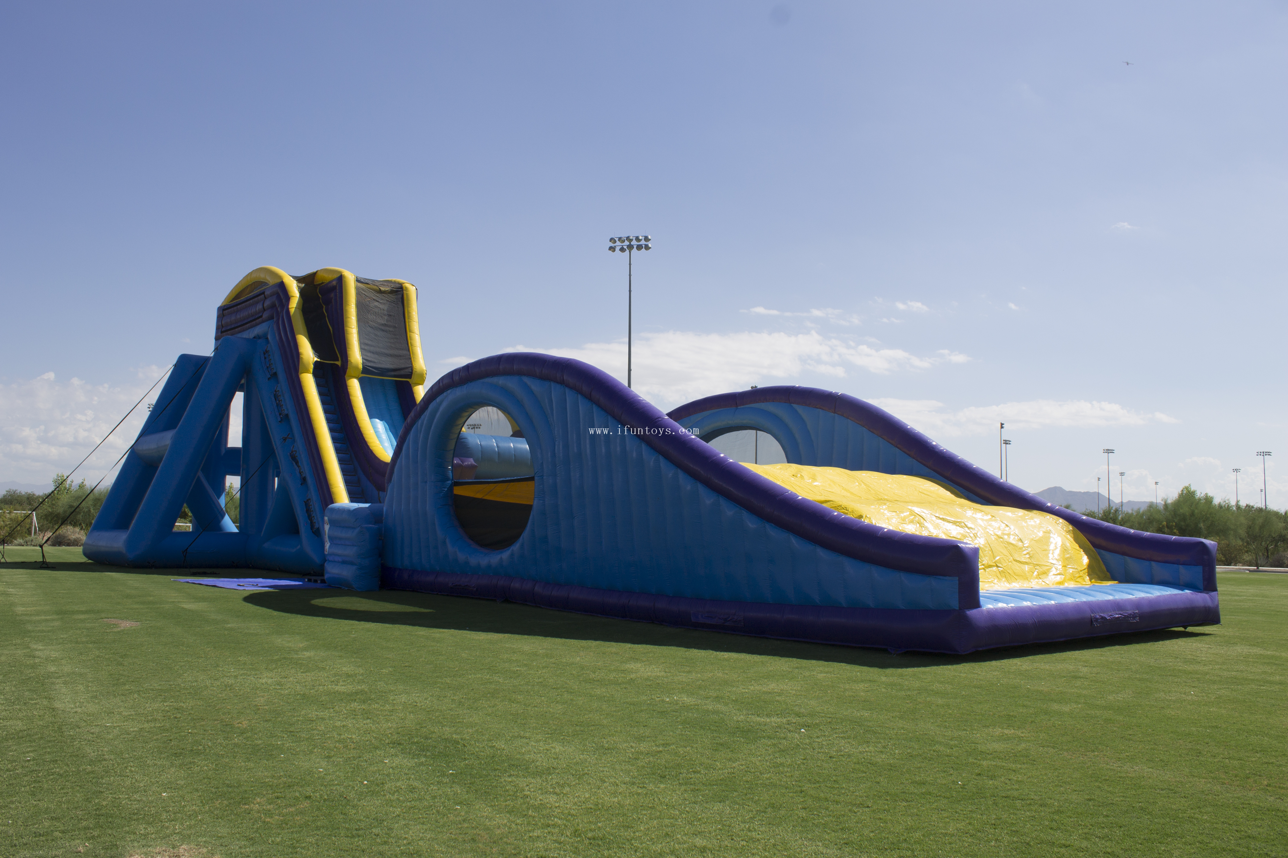 Large inflatable drop kick water slide/adult inflatable dry