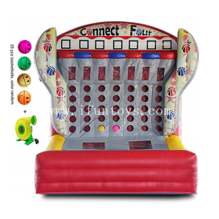 Inflatable Connect 4 in A Row / Inflatable Basketball Connect Four Shooting Game for Outdoor Sport