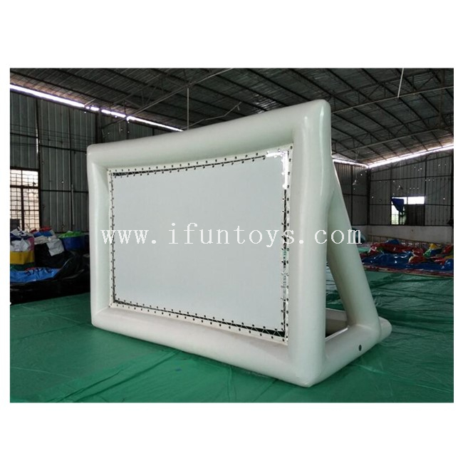 Air Sealed Inflatable Projector Screen / Inflatable Floating Film Screen for Swimming Pool / Outdoor Inflatable Movie Screen for Event
