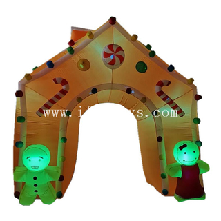 LED lighting Inflatable giant gingerbread arch Christmas archway event party entrance