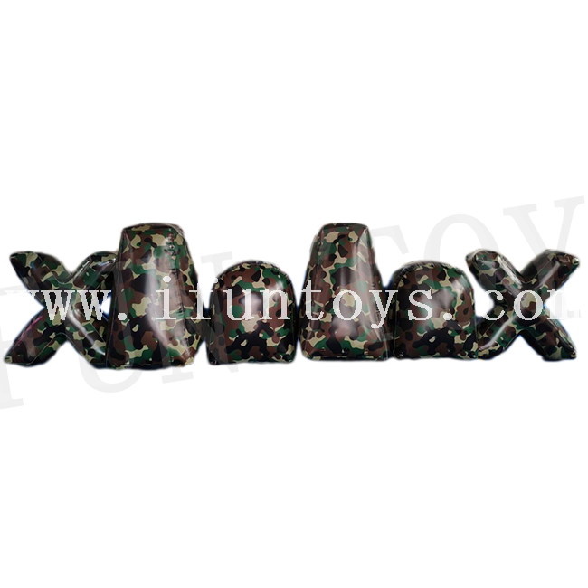 Inflatable Camouflage Paintball Bunker / Inflatable Paintball Barriers / Air Bunker for Outdoor Archery Games