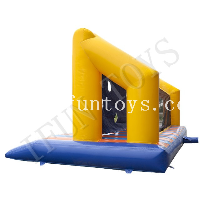 Inflatable Soccer Goal with Bed / Inflatable Football Goal Post / Inflatable Football Toss Game for Outdoor Sport