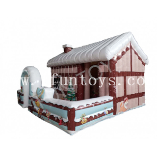 Inflatable Santa's House / Christmas Inflatable Bounce House / Xmas Inflatable Santa's Grotto
