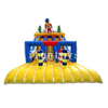 Olympic Theme Double Lane Inflatable Water Slide / Dry Slide Bouncer for Amusement Park
