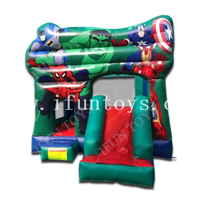 Marvel Avengers Bounce House Inflatable Super Hero Bouncer Combo / Jumping Castle for Kids Party