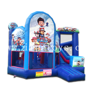 Paw Patol Inflatable Bounce House with Slide Combo Playground Jumper with Slide for Kids