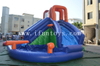 Inflatable Water Pool Slide Combo / Inflatable Waterpark Splash Pool Slide with Water Gun for Kids