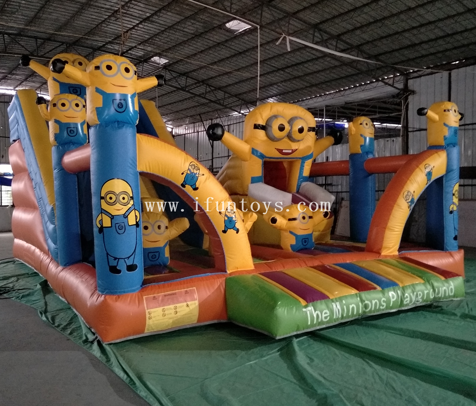 kids soft inflatable playground /Inflatable minions children play fun city park / minion inflatable bounce house with slide