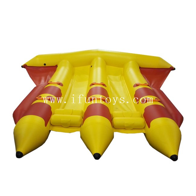 Inflatable Aqua Flyfish Raft / Inflatable Flying Fish Boat / Inflatable Towable Flyfish For water park games