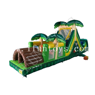 Inflatable Palm Tree Obstacle Course Challenge Race Interactive Inflatable Game Obstacle for Adults