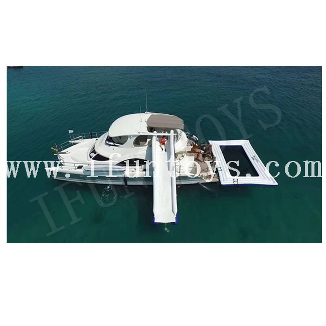 Floating Inflatable Sea Pool / Yacht Pool / Ocean Swimming Pool with Safety Net