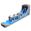 Inflatable Log Mountain Wave Water Slide / Inflatable Slides with Water Pool