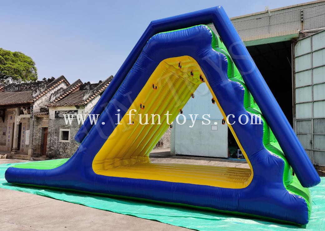 Aqua Park Inflatable Floating Slide / Climbing Water Slide for Lake
