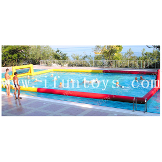 Inflatable Beach Water Polo Field / Starboard SUP Polo Court / SUP Polo Inflatable Field with Goals