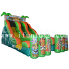 Commercial inflatable tiki island double lane slide /inflatable Tiki Falls slide/inflatable dry slide for kids
