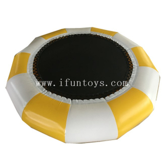 Inflatable Sea Water Park Floating Platforms Trampoline /inflatable jumping water trampoline for aqua play toys