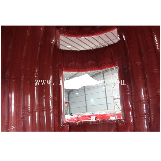 Portable Inflatable Barrel Stand /Air Constant Inflatable Standing Kiosk /inflatable Selling Booth for Promotion