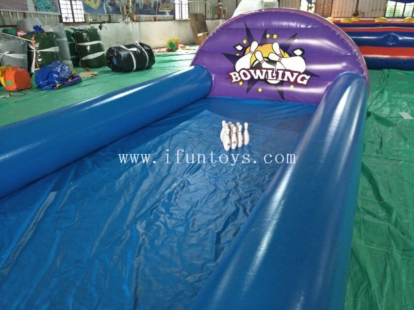 Inflatable bowling race sport games /Outdoor inflatable bowling single lane/ Inflatable bowling alley for kids and adults