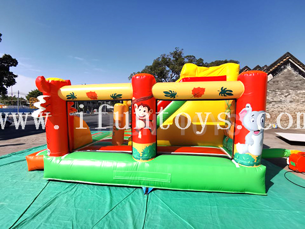 Inflatable Jumping Bouncy Castle with Slide / Children Playground Fun City