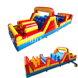 Outdoor Inflatable Obstacle Course Challenge / Obstacle Run Game for Adults