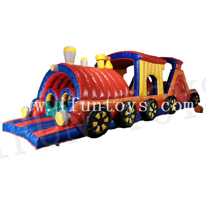 Inflatable Train Obstacle Course / Train Tunnel Obstacle Challenge for Kids
