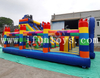 Captain America Theme Inflatable Marvel Legoland Playground with Slide / Superhero Jumping Bounce House Slide