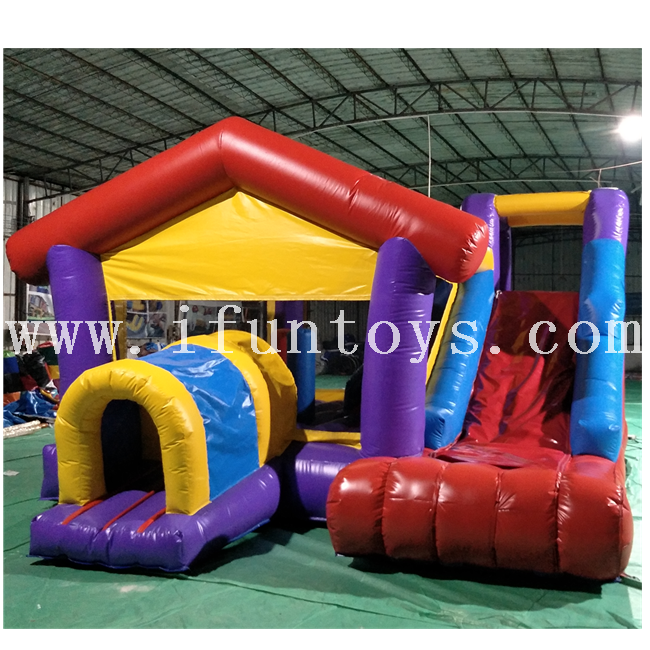 Kids inflatable bouncer/inflatable jumping castle obstacle course with slide /inflatable bounce house combo