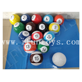 Inflatable Billiards Table Ball / Snooker Soccer Ball / Snooker Football for Sport Game
