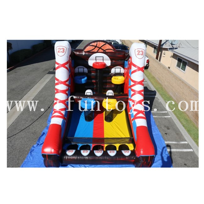 Inflatable Mega Basketball Challenge / Shooting Stars Basketball Inflatable / Basketball Shootout Game