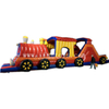 Giant commercial 53ft long super market inflatable Chuggy Choo Choo train obstacle courses for kids and toddlers