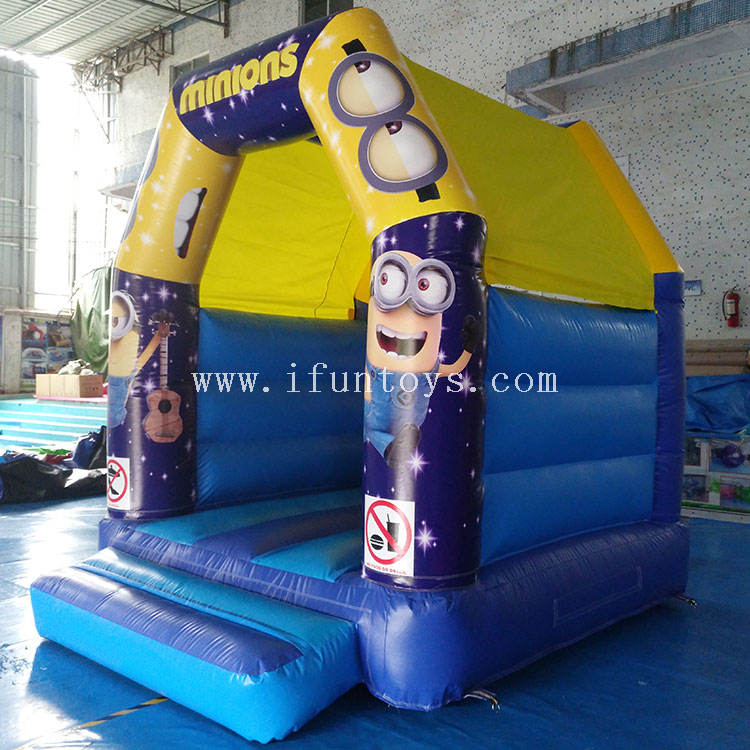Commercial minion jumping inflatable mini bouncer combo/inflatable bouncy castle /inflatable bounce house for sale