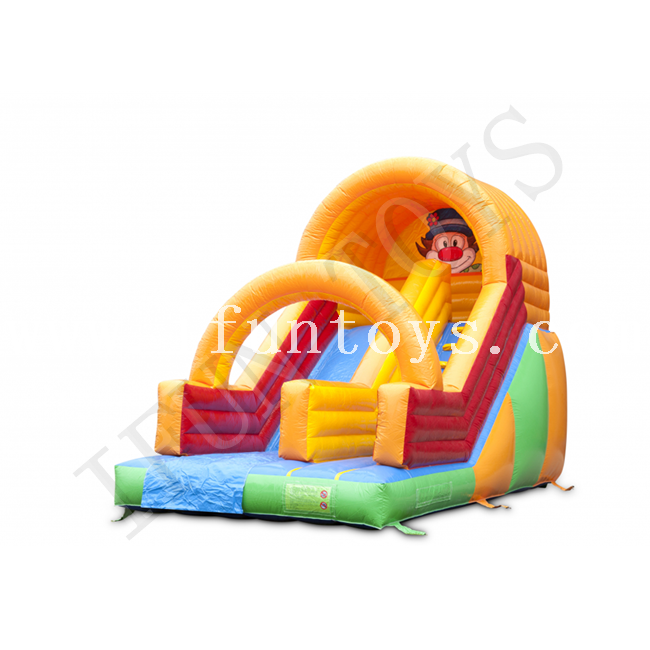 Inflatable Clown Dry Slide / Kids Inflatable Slides for Sale