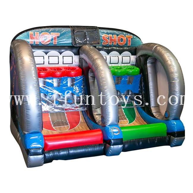 Interactive Hot Shot Hoops Inflatable Basketball Game with Battle Light / IPS Inflatable Basketball Hoops