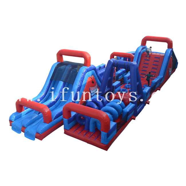 Rugged Warrior Inflatable Obstacle Challenge / Wipeout Inflatable Obstacle Course for Adults