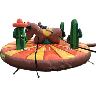 5 meters inflatable manual bull rodeo amusement ride games for kids