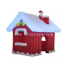 Inflatable Christmas Santa House / Inflatable Santa Grotto House with LED Light And Air Blower for Outdoor Christmas Decoration