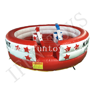 Outdoor Inflatable Fighting Arena / Jousting Platform / Fighting Game with Sticks for adult